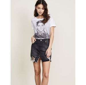 NWNT We the Free Relaxed Destroyed denim  Skirt